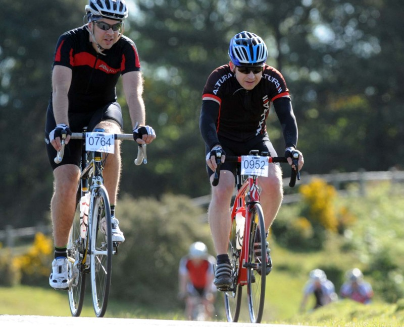 Andy Evans and Steve Gordon. New Forest Spring Sportive, rescheduled, June 2013.