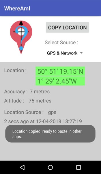 WhereAmI - Android app